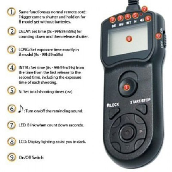 Satechi time-lapse intervalometer timer remote DSLR