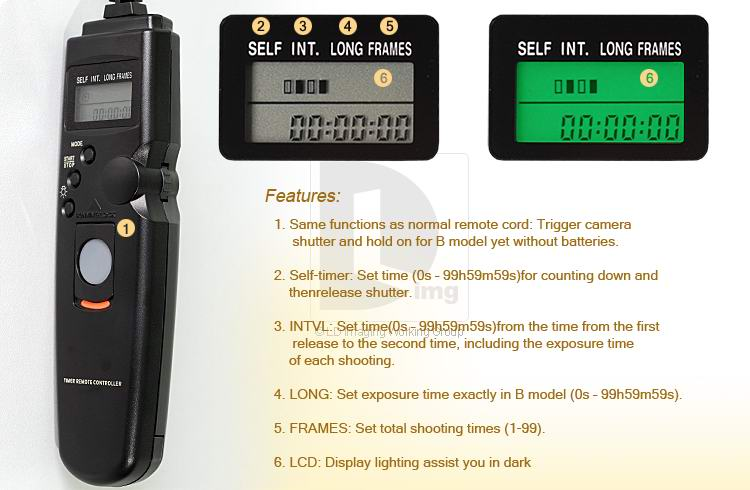 linkdelight time-lapse intervalometer timer remote DSLR